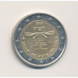 2 Euro Belgique 2008 - 60e anniversaire déclaration droits de l'homme