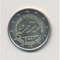 2 Euro Belgique 2010 - Présidence de la Belgique de l'Union Européenne