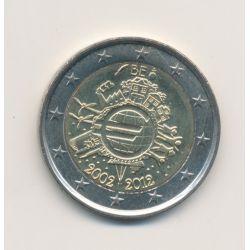 2 Euro Belgique 2012 - 10 ans de l'euro