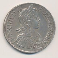 Louis XIV - Écu à la mèche longue - 1648 H La Rochelle
