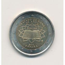2€ Espagne 2007 - Traité de Rome