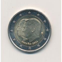 2€ Espagne 2014 - changement du chef de l'état