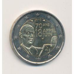 2€ France 2010 - 70 ans appel 18 juin - De Gaulle