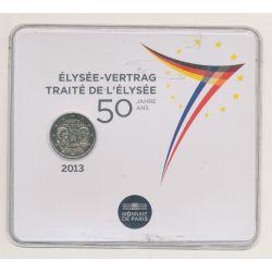 2 Euro 2013 - Traité de l'élysée - Brillant universel