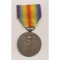 Médaille Victoire Interallié - 1914-1918 - Uniface