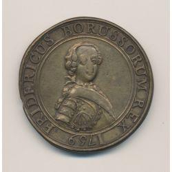 Médaille - Frédéric II - Guerre de 7 ans - 1759 Berlin - Prusse - cuivre