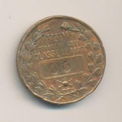 Médaille - Souvenir tirage au sort 1877