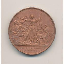 Médaille - Souvenir du siège de paris 1870 - cuivre rouge