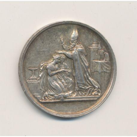 Médaille de mariage - gravée initiales BP - argent