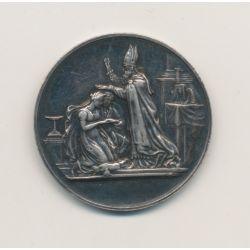 Médaille de mariage - gravée initiales - 29 octobre 1884 - argent