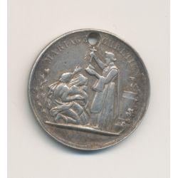 Médaille de mariage - gravée initiales + 1884 - argent