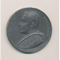 Médaille - Pi X - St pierre Rome - étain