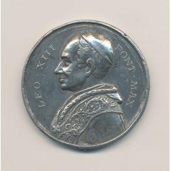 Médaille - Léo XIII - étain