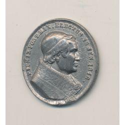 Médaille - Pi IX - étain