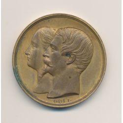 Médaille - Exposition Universelle 1855 - Napoléon III - Maison Gelot - bronze doré
