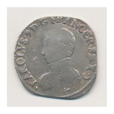 Charles IX - Teston - 1563 L Bayonne