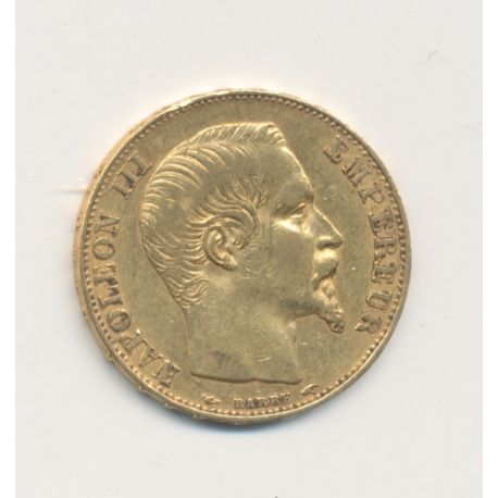 20 Francs Or - Napoléon III Tête nue - 1854 A Paris