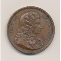 Médaille - Jean de la quintinie - Société d'agriculture de La Rochelle - bronze