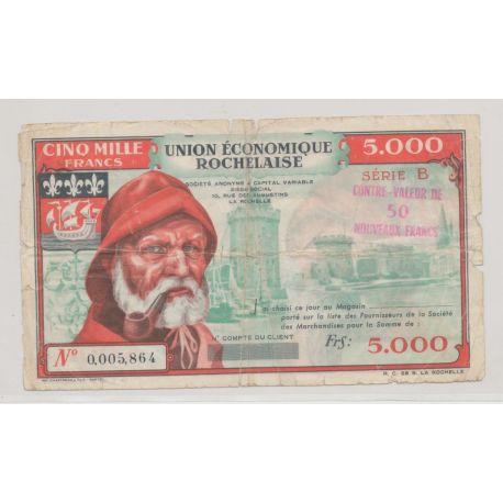 50NF sur 5000 Francs - Union économique Rochelaise - TB