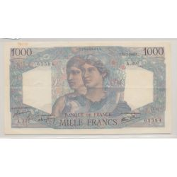 1000 Francs Minerve et hercule - 11.07.1946 - TTB