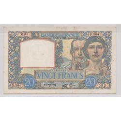 20 Francs Science et travail - 20.02.1941 - TTB+
