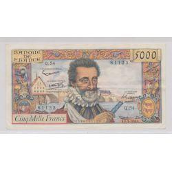 5000 Francs Henri IV - 6.03.1958 - TTB+