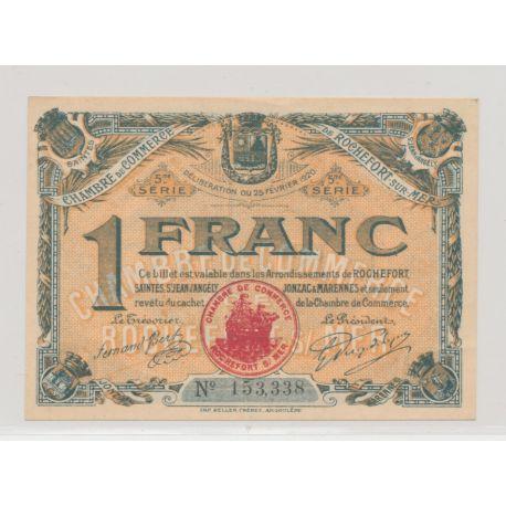 1 Franc - Rochefort sur mer - 1925 - SUP