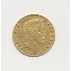 Napoléon III Tête laurée - 5 Francs Or - 1868 BB Strasbourg