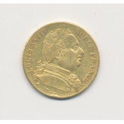 Louis XVIII - 20 Francs Or - 1815 L Bayonne - Buste habillé