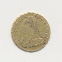 Louis XV - 1/2 Louis d'or aux lunettes - 1730 B