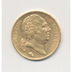 Louis XVIII - 20 Francs Or - 1824 A Paris - Buste nu