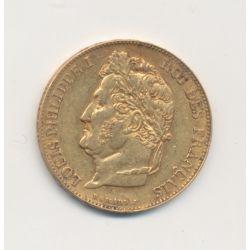 Louis philippe I - 20 Francs Or - 1847 A Paris - Tête laurée
