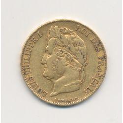 Louis philippe I - 20 Francs Or - 1848 A Paris - Tête laurée