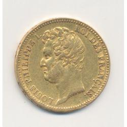 Louis philippe I - 20 Francs Or - 1831 A Paris - Tête nue - Tranche en relief