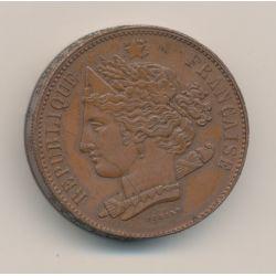 Piéfort - concours 10 centimes 1848 - Domard - cuivre