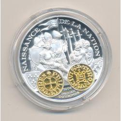 Médaille  - Philippe auguste - Denier tournoi 1204 - 2000 ans d'histoire monétaire Français