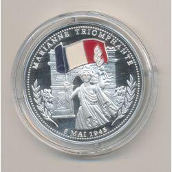 Médaille - Marianne triomphante - 8 mai 1945 - argent