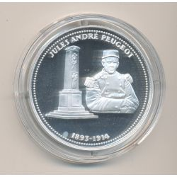 Médaille - Jules andré Peugeot - 1893-1914 - 100e anniversaire de la grande guerre - argent