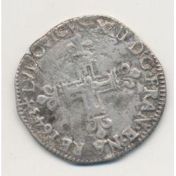 Louis XIII - 1/4 écu 1643 L Bayonne
