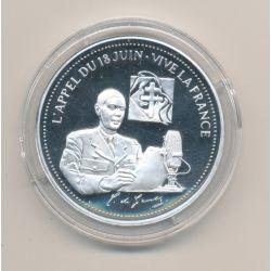 Médaille - L'appel du 18 juin - vive la France - argent