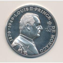 Médaille - Louis II - Prince de monaco - argent