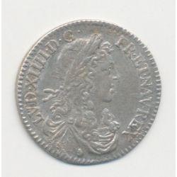 Louis XIV - 1/12 écu mèche au buste juvénile - 1660 Aix