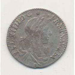 Louis XIV - 1/12 écu mèche au buste juvénile - 1662 D Lyon