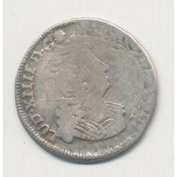 Louis XIV - 1/12 écu aux insignes - 1702 P Dijon