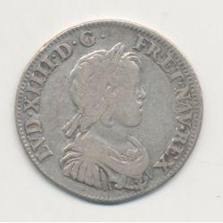 Louis XIV - 1/4 écu mèche courte - 1644 A Paris