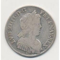 Louis XIV - 1/4 écu mèche courte - 1647 Aix
