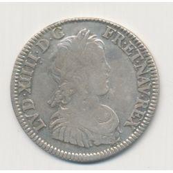 Louis XIV - 1/4 écu mèche courte - 1648 A Paris