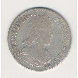 Louis XIV - 1/4 écu mèche longue - 1655 Rennes