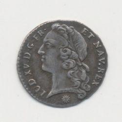 Louis XV - 1/20 écu au bandeau - 1743 D Lyon
