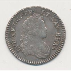 Louis xv - 1/6 écu France Navarre - 1720 P Dijon